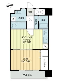 新高円寺ロイヤルマンションの間取図