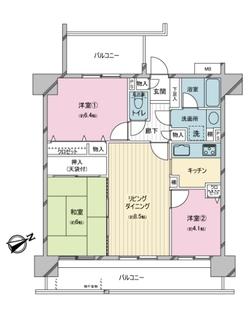 ダイアパレス京成曳舟の間取図