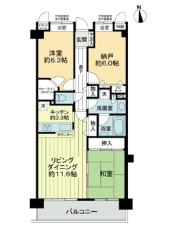 ライオンズマンション西武柳沢第3の間取図
