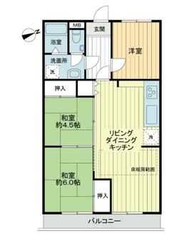 セザール武蔵小杉の間取図