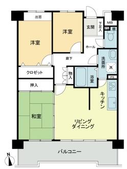 ライオンズマンションニューシティ蟹江一番館の間取図