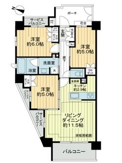 クリオ富士見台ガーデンテラスの間取図