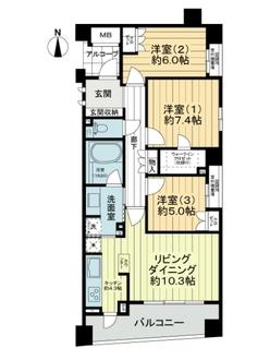 レクセルマンション武蔵野の杜の間取図
