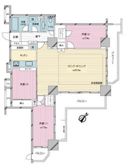 東京アルバタワーの間取図