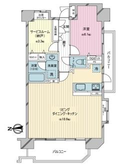 グリーンプラザ錦糸町の間取図