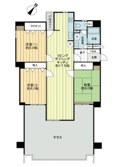 千里山ロイヤルマンション2番街D棟の間取図