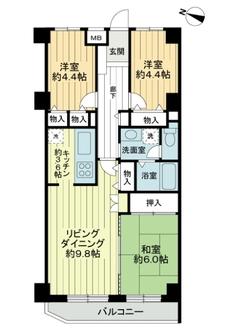 ルミネ鷺沼第2マンションの間取図