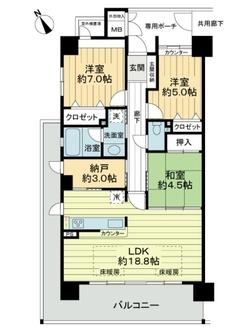 西宮マリナパークシティ杜のまち 2番館の間取図