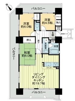 ライオンズマンション呉中央の間取図