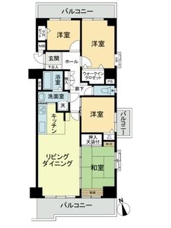 ライオンズマンションニューシティ蟹江二番館の間取図