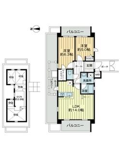 パレ北武庫之荘2本館の間取図