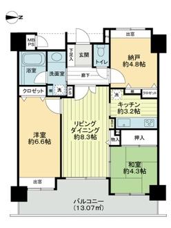 ライオンズマンション浦和駅前の間取図