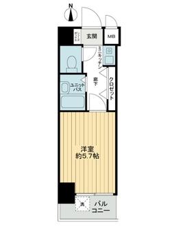 エステムコート大阪城南の間取図