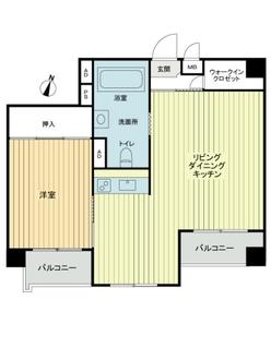志村三丁目フラワーホームの間取図
