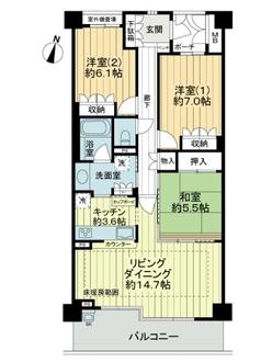 ジオ桃山台EXEの間取図