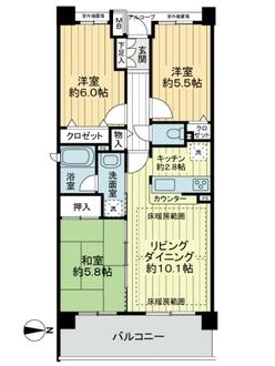 クレストフォルム武蔵新城サウスステージの間取図