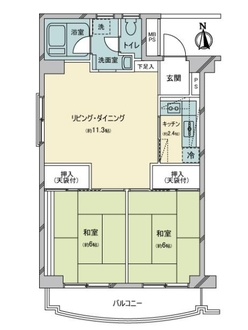 京成サンコーポ北小岩の間取図