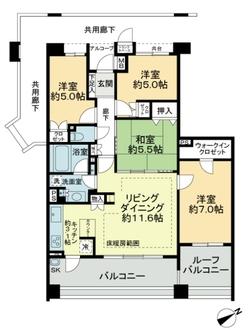 ルネサンスフォート田無南町の間取図