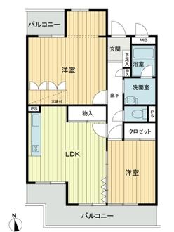 ライオンズマンション徳川町の間取図