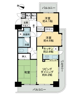 日神パレステージ板橋本町第6の間取図
