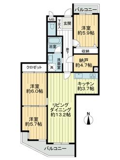 ラ・キャッスル21島田の間取図