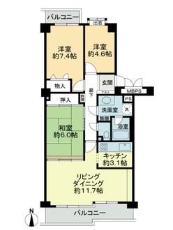 徳川町パークマンションの間取図