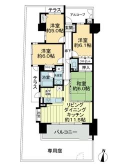 宝マンション東志賀の間取図