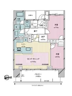 ベイズ タワー&ガーデンの間取図