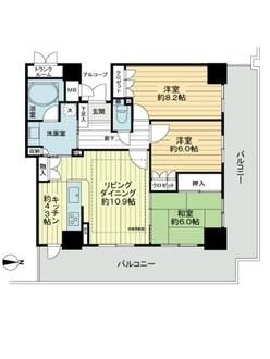 岐阜シティ・タワー43の間取図