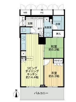ローレルタワーサンクタス梅田の間取図
