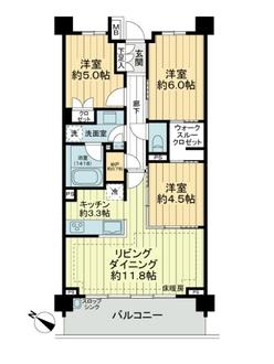 Brillia横浜鶴ヶ峰の間取図