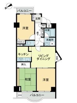 ライオンズマンション片瀬江ノ島の間取図
