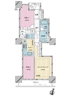 パークタワー東京クラルテ ステーションフロントの間取図