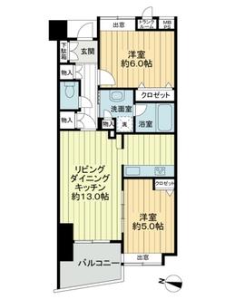 クリオレジダンス東京の間取図