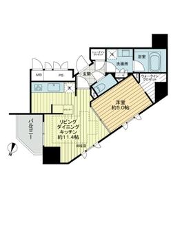 ジオ西新宿ツインレジデンス ウエスト棟の間取図
