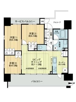 ザ・大阪レジデンス梅田の間取図