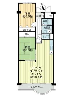 淀川パークハウス三号棟の間取図