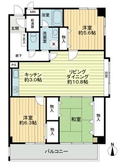 多摩永山第二スカイマンションの間取図