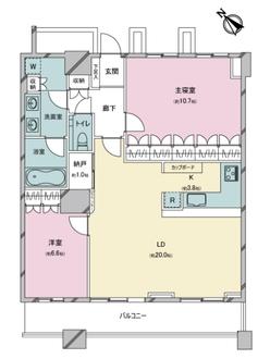 THE TOKYO TOWERS ミッドタワーの間取図