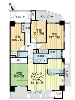 サンマンションアトレ一宮文京の間取図