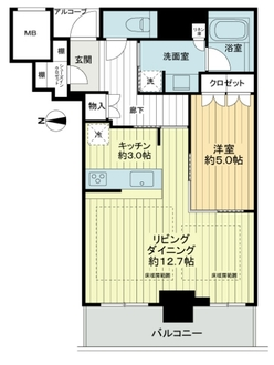 大阪ひびきの街 ザ・サンクタスタワーの間取図