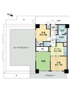 ライオンズマンション与野本町第5の間取図