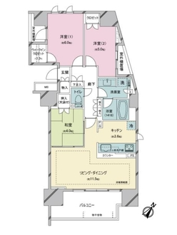 THE SOUTH CANAL RESIDENCEの間取図