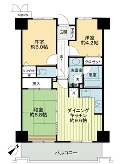 ライオンズプラザ神戸の間取図
