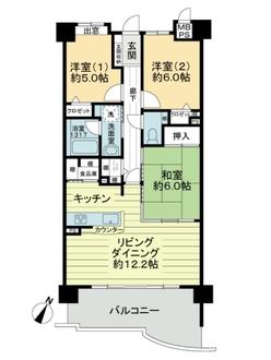 ライオンズマンション藤ヶ丘ガーデンシティ1番館の間取図