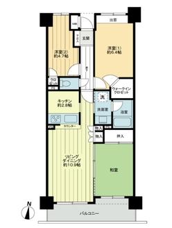 川崎平間ガーデンハウスの間取図