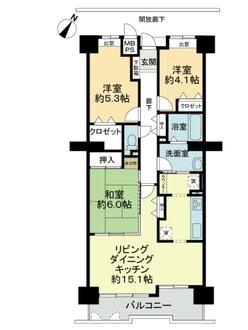 トーカンマンション山根町センターウイングの間取図
