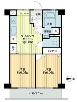 調布たま川台住宅の間取図