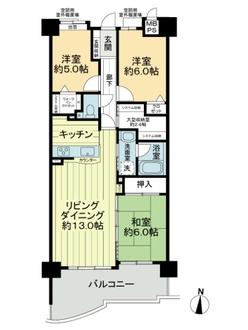 ライオンズマンション藤ヶ丘ガーデンシティ3番館の間取図