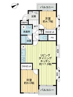 ライオンズマンション日吉本町の間取図